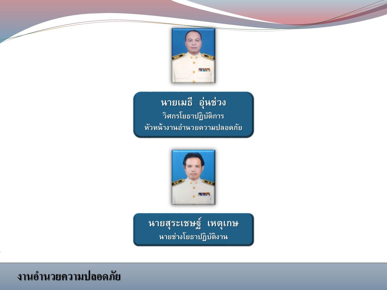 หน่วยงานอำนวยความปลอดภัย สังกัดแขวงทางหลวงเลยที่ 1